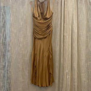 Cache fabulous golden formal dress